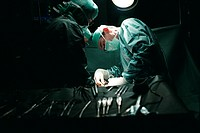 SURGERY<BR>Photo essay for press only.<BR>Operating room.