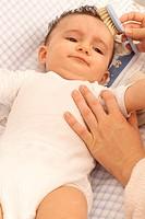 INFANT HYGIENE<BR>Model.<BR>7-month-old baby.