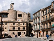Castle of Fernán Gómez in the Main Square of Sepúlveda. Segovia province, Castilla-León, Spain