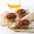 Chocolate muffins with Grand Marnier