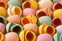 Colourful lumaconi (filling the picture)
