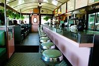 Diner Interior. Salem, Massachusetts. USA.