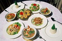 Asia, Bangkok, Chillie, Cuisine, Curry, Food, Grass, Green, Holiday, Landmark, Lemon, Prawns, Red, Rice, Seafood, Spices, Table,