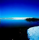 Winter landscape at a lake, Iran