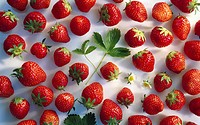Berries, Berry, Food, Fresh, Fruit, Ingredients, Leaf, Produce, Raw, Strawberries, Strawberry, Summer, Uncooked,