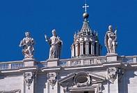 italy, lazio, rome, san pietro square, detail
