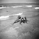 på stranden i beyrouth