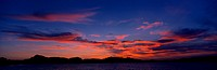 Clouds becoming red after the sunset near Sanary