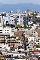 Overhead view on the city in Meguro. Tokyo. Japan