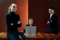 Businesswomen in boardroom