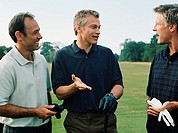 Golfers having a discussion