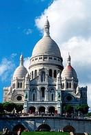 Basilica of the Sacré-Coeur. Montmartre. Paris. Île de France. France.