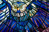 Stained-glass window, Toloca, Mexico