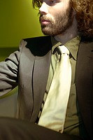 Serious businessman with a beard