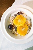 Bowl of cereal with fruit