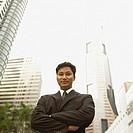 Low angle portrait of businessman