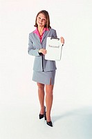 Portrait of a businesswoman holding a clipboard