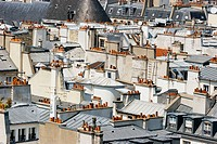 Les Halles area, picture taken from the top of the Georges-Pompidou Center, Paris, France