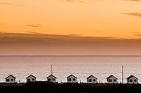 Beach Shacks. Cape Cod National Seashore. Truro, Massachusetts. USA.