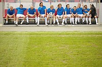 Footballers on the bench