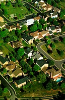 Aerial view of Montgomery County housing develop., Maryland