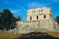 Temple of the Deer. Mayan ruins of Chichen Itza. Yucatan. Mexico