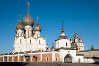 Trading rows of the Kremlin, Rostov the Great. Golden Ring, Russia