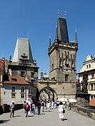 The Little Quarter bridge towers, Prague