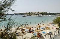 Beach of Porto Cristo. Mallorca. Balearic Islands. Spain.