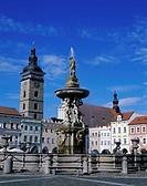 Samson Fountain Ceske Budejovice Czech Republic