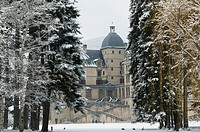 Chateau de Vizille Park after winter storm. Vizille. Isère. French Alps. France.