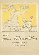 advertising, education, The Munich Berlitz School of United Arts, Munich, 1905, poster, design by Erler, historical, historic, Germany, fine arts, sch...