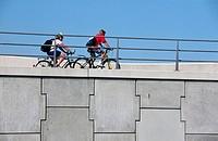 Cyclists. Ijmuiden, Holland