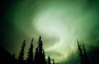 Aurora Borealis or Nothern Lights. Brooks range. Alaska. USA