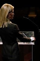 Executive giving a speech