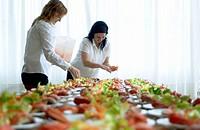 Preparing dishes. Lobster salad. Gastronomical Society, Donostia, San Sebastián, Gipuzkoa, Euskadi. Spain.