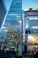 Street scene, Kita business and shopping district, Osaka. Japan