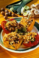 Peppers stuffed with vegetables