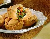 Empanadas: pasties with pea filling