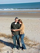 Young Couple on Beach in North Carolina, USA