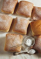 Kirchweihküchle (doughnuts with icing sugar from Franconia)