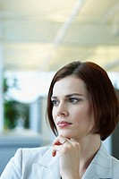 Thoughtful looking businesswoman