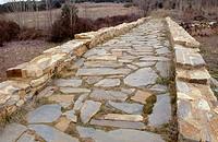 Roman bridge of Celada near Astorga. Vía de la Plata, León province, Castilla-León, Spain