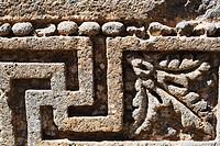 Stone relief with solar swastika, Roman temple of Helios, Qanawat. Syria