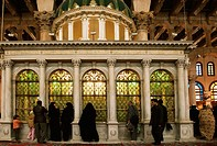 Shrine which is said to contain the head of John the Baptist, Umayyad Mosque built 705-715 by caliph Al-Walid I, Damascus. Syria