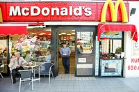 FAST FOOD<BR>MacDonald´s in central Istanbul, Turkey.