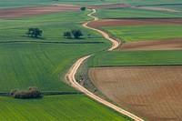 Fields in La Mancha. Tresjuncos. Cuenca. Ruta de Don Quijote. Castilla-La Mancha. Spain.