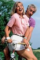 ELDERLY COUPLE OUTDOORS<BR>Models.