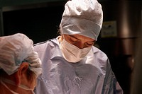 SURGEON<BR>Photo essay.<BR>Gustave-Roussy Institute, in the French region of Ile-de-France.