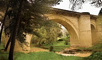 Old bridge over Genil river, Benamejí. Córdoba province, Andalusia, Spain